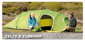 Zelte, Schlafs�cke und Isomatten