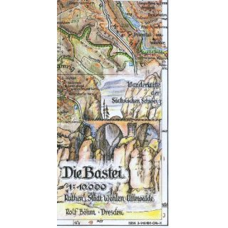 Böhm Wanderkarte Die Bastei 1:10.000