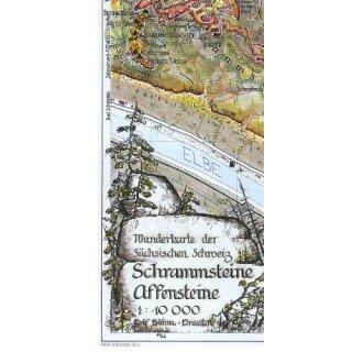Böhm Wanderkarte Schrammsteine - Affensteine 1:10.000