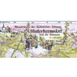 Böhm Wanderkarte Hinterhermsdorf 1:10.000