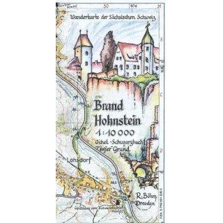 Böhm Wanderkarte Brand Hohnstein 1:10.000