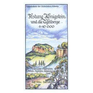 Böhm Wanderkarte Festung Königstein und die Tafelberge 1:10.000