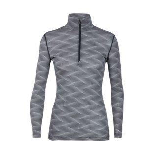 Icebreaker Women Oasis 200 Long Sleeve Half Zip Curve Damen Merino Langarmshirt