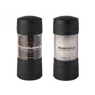 BasicNature Mühlenset Pfeffer und Hagelsalz