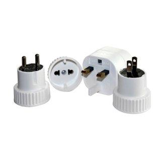 BasicNature Steckeradapter Welt Set mit 4 Adaptern