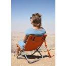 BasicNature Travelchair Beach orange / braun stahl
