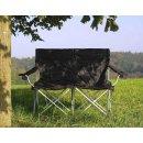 BasicNature Travelchair Love Seat Faltsofa schwarz