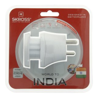Skross Steckeradapter Combo World to Indien